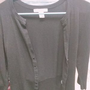 White House Black Market Black Cardigan